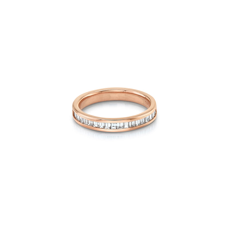 Petite Vertical Baguette Half Eternity Band