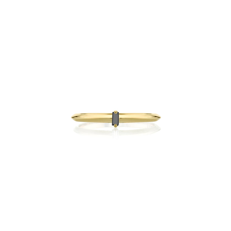 Petite Knife Edge Vertical Baguette Solitaire Ring