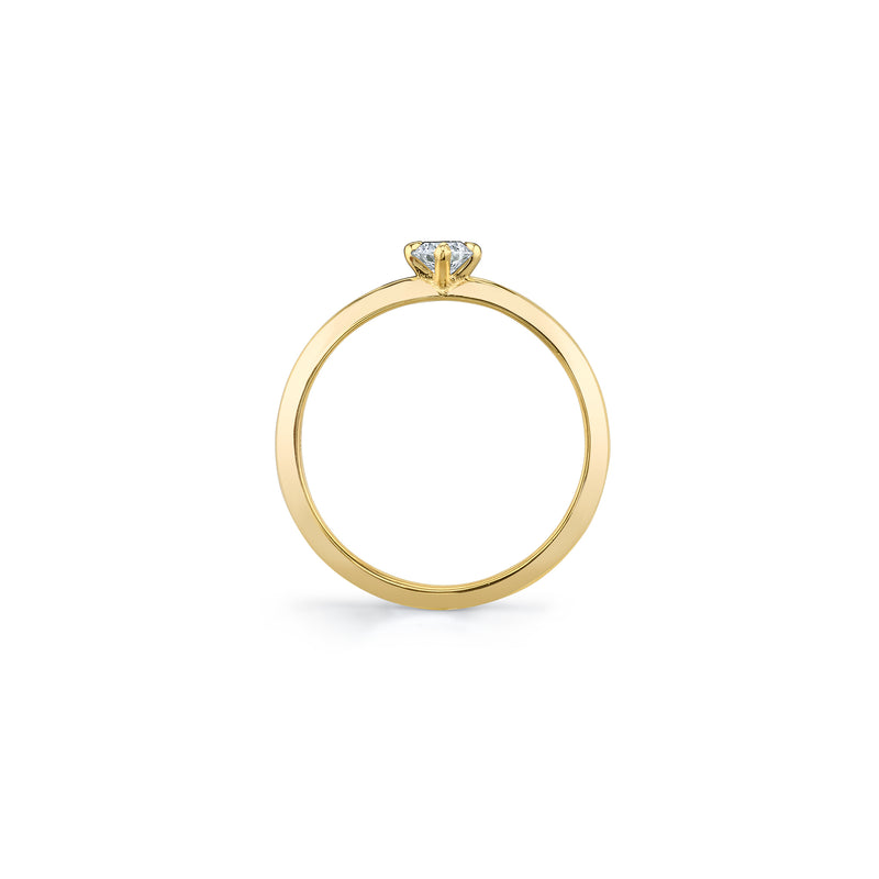 Petite Knife Edge Solitaire Ring