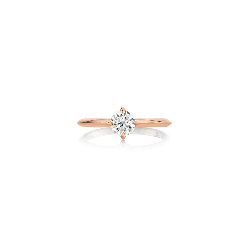 Half Carat Knife Edge Round Solitaire Ring