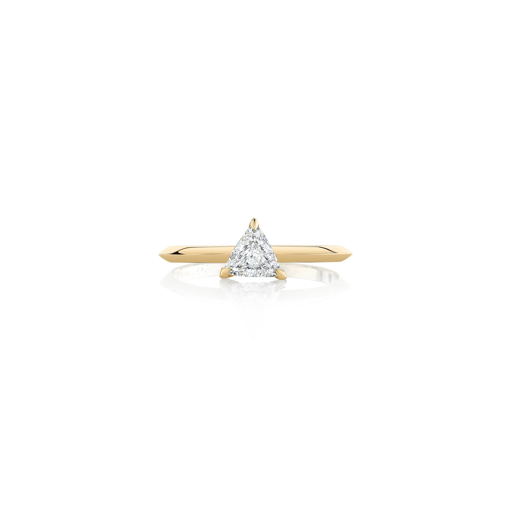 Half Carat Knife Edge Trillion Solitaire Ring