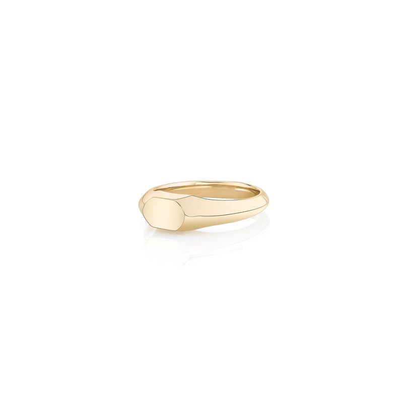 Knife Edge Signet Ring