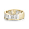 Alternating Tapered Baguette Half Eternity Band