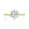 Signature Knife Edge Solitaire with Two-Toned Six Prong Round Diamond