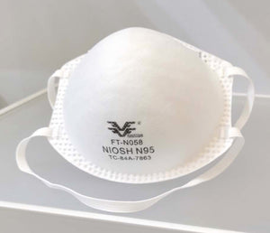 N95 MASK FANGTIAN FT-N058 DUST CUP STYLE NIOSH APPROVED (20 PACK) - $8.95/Mask