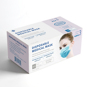 Level 3 Earloop Medical Procedure Face Mask model CM2001  (As low as $26.95/box)