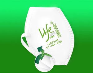 N95 MASKS LIFE 1095 (100 pack)  ($7.95/mask)