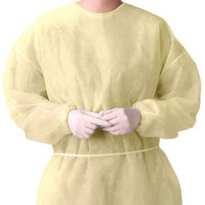 Isolation Gowns Non-woven PP Polypropylene (as low as $7.30/gown)