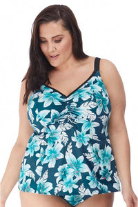 Elomi Island Lily Moulded Tankini - Adjustable Neckline