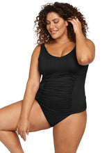 Load image into Gallery viewer, Artesands Hues Black Raphael E/F Underwire Tankini