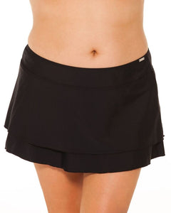 Capriosca Plain Black 2tier skirt