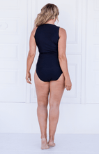 Load image into Gallery viewer, Ellenny V=neck Swimtankini Black