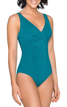 Load image into Gallery viewer, Jets Jetset V-Neckline Rouched 1 Piece