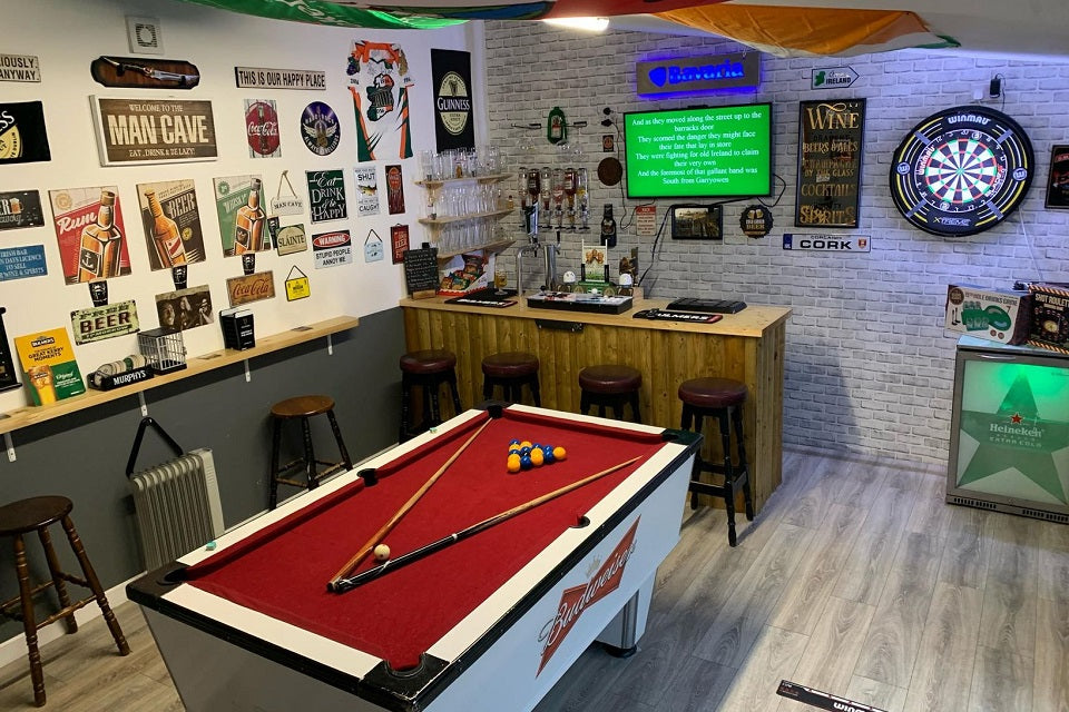 Man Cave Bar and Pool Table