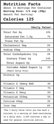 Sunny Day Nutritional Information