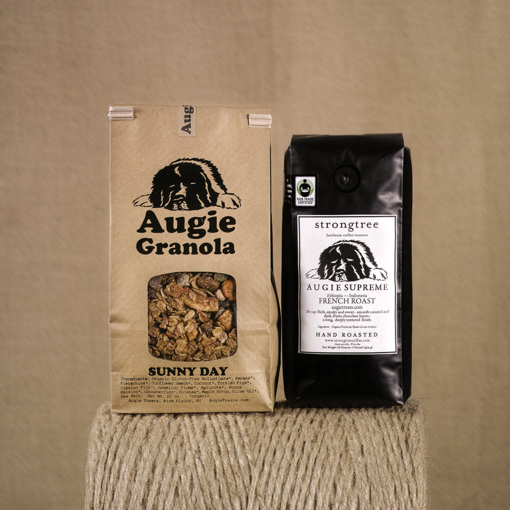 Sunny Day Granola 20oz bag and strongtree coffee 16oz bag