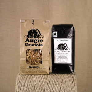 Original 20z granola and 16oz strongtree coffee