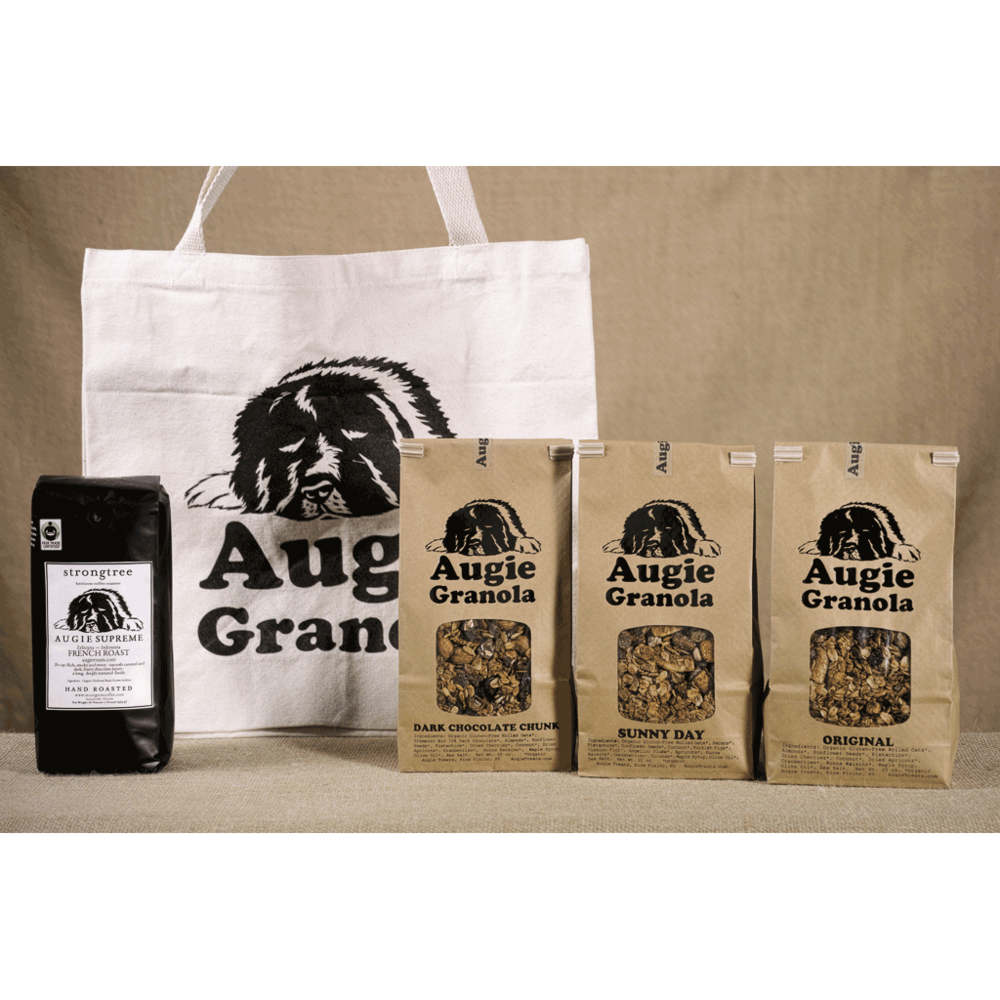 Augie Treats full granola and coffee gift bag