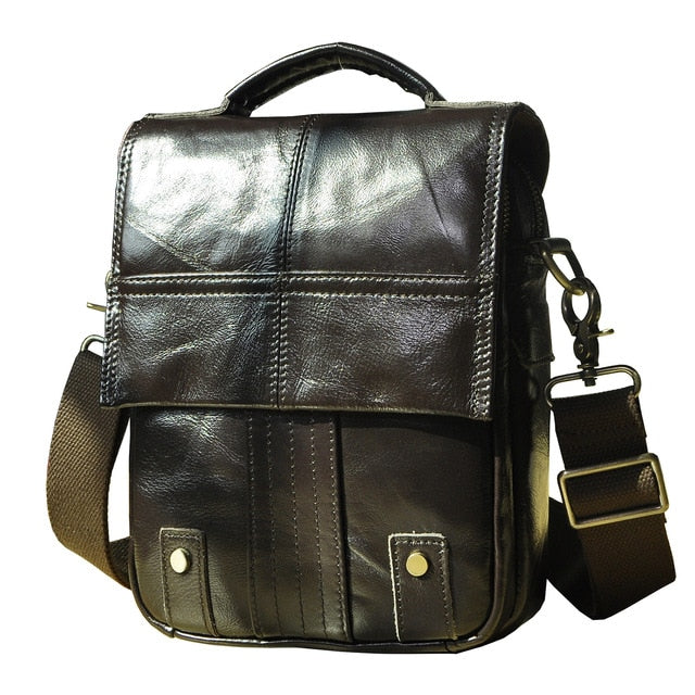 Genuine Leather Male Shoulder Cross Body Bag