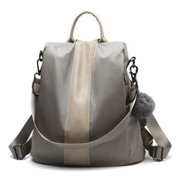 Fashionable Hair Ball Leather Backpack