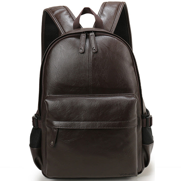 Waterproof Casual Leather Backpack