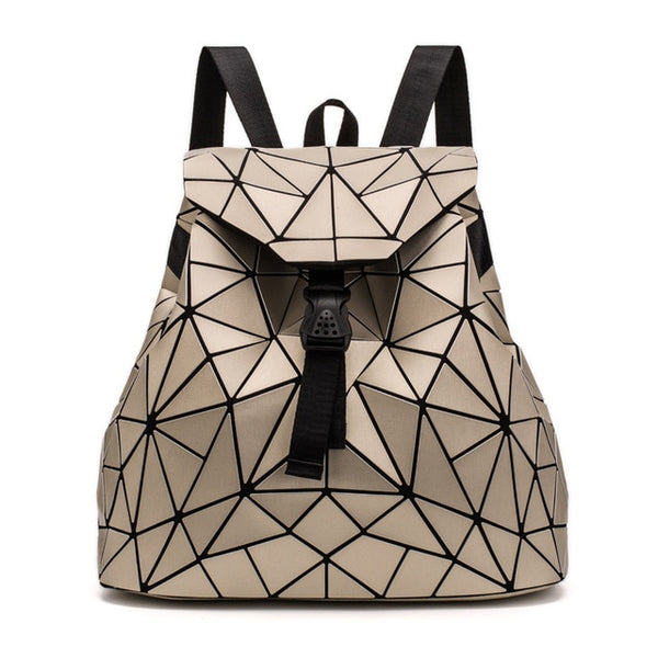 Luminous Drawstring Geometry School Backpack