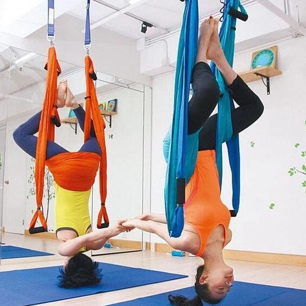 Strength Decompression yoga Hammock Inversion Trapeze Anti-Gravity Aerial Traction Yoga Gym strap yoga Swing set Protect wrist