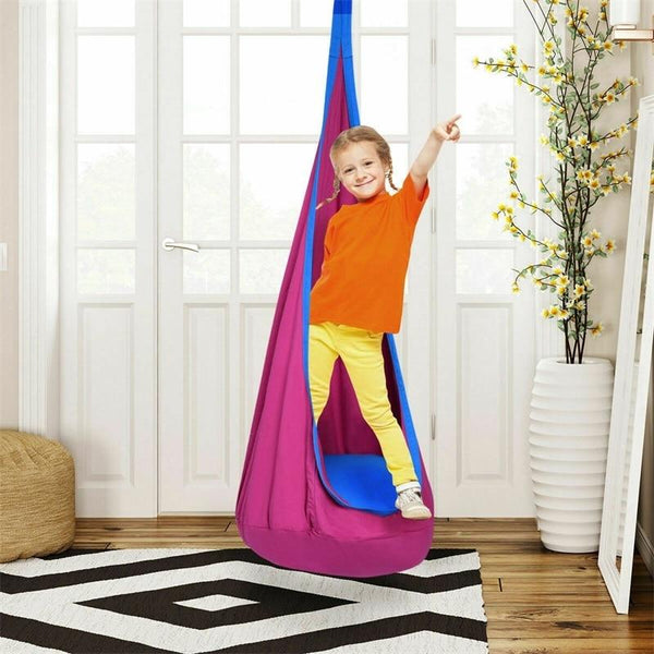 Brand New and High Quality Child Swing Hanging Seat Outdoor Indoor Hammock Soft Cotton Inflatable Seat Easy To Folded and Carry