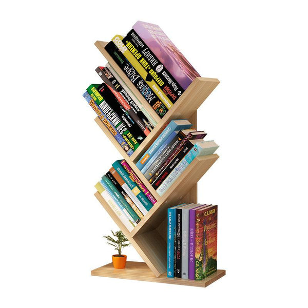 Simple modern Tree shape bookshelf student bookcase floor multi layer creative stable book rack Large capacity