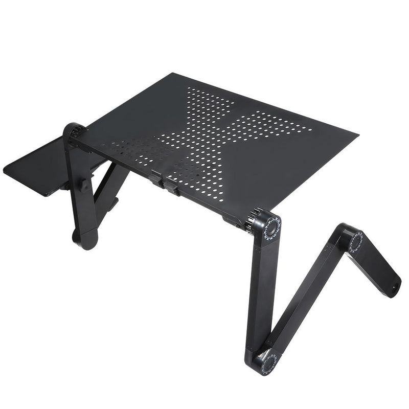 Hot Sale Tray Portable Foldable Adjustable Laptop Desk Computer Table Stand Tray For Sofa Bed Black Computer Desk Notebook Stand