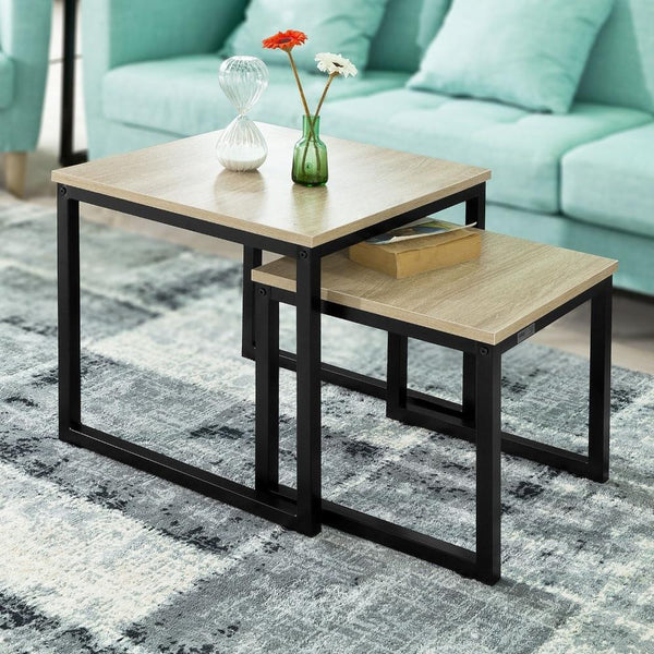 SoBuy FBT42-N Modern Nesting Tables  Set of 2 Coffee Table Side Table End Table