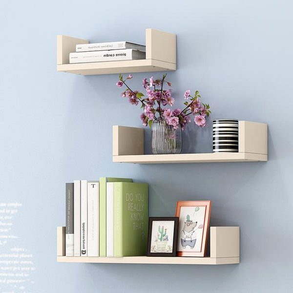 Creative Bookshelf 3pcs Wall-mounted Storage Rack Bedroom Living Room Furniture Bookcase Potted Stand