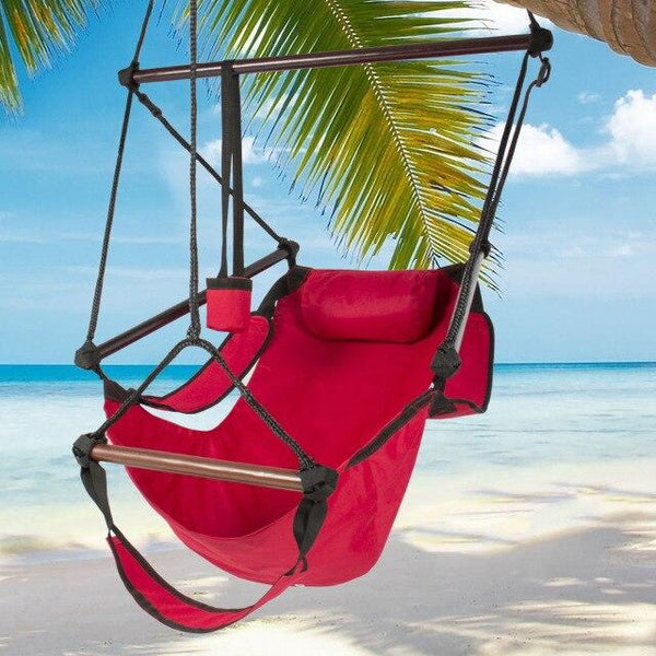 Outdoor Indoor Garden Hammock Hanging Relax Chair Air Deluxe Swing Chair Solid Wood Hanging Chair For Child Adult US stcok