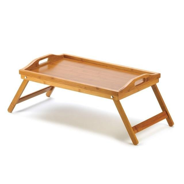 Foldable Portable Bamboo Laptop Desk  Simple Dining Table  On The Bed Picnic Tables