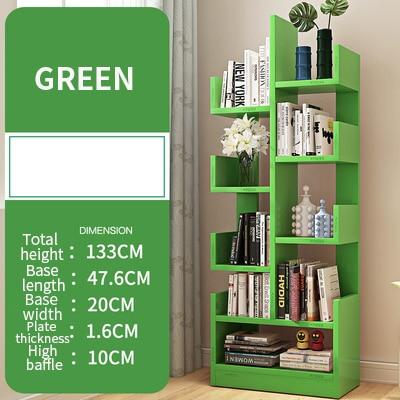 Tree-shaped Bookshelf Floor Simple Modern Solid Wood Bookcase Children's Storage Creative Living Room Storage Cabinet 1PC