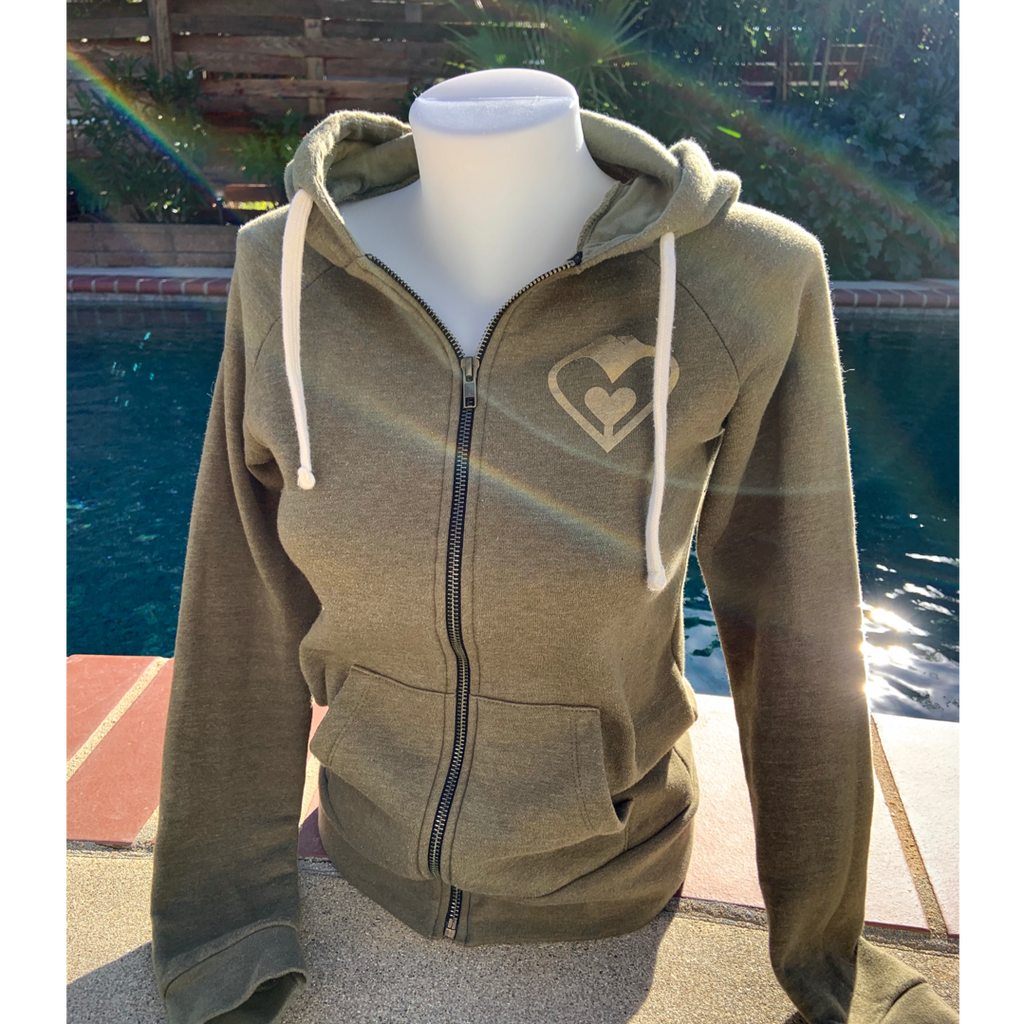'Heart of Gold' Zipper Hoodie (Two Colors)