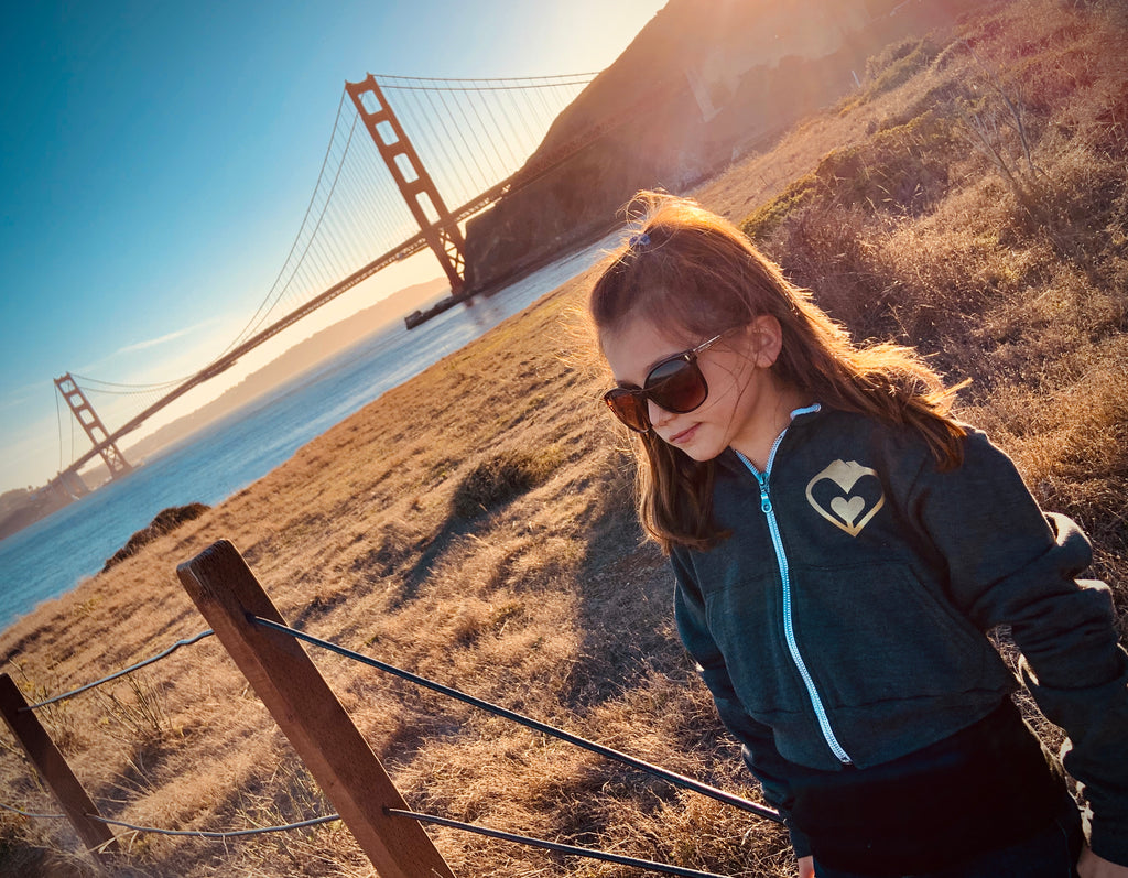 Women/Girls' Cropped 'Heart of Gold' Zipper Hoodie