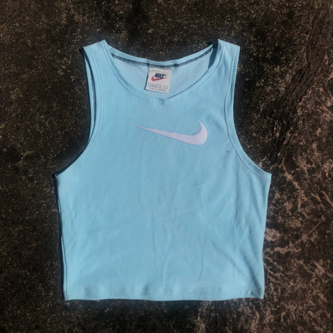 Aqua Nike Embroidered Cami Top