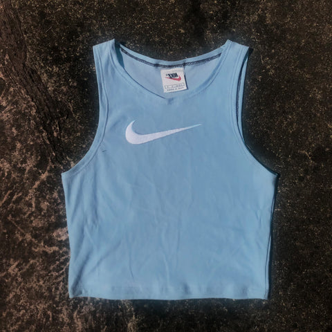 Blue Nike Embroidered Tick Cami