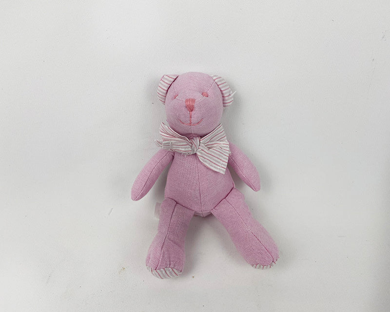 Mini Fabric Teddy Bear - Pink