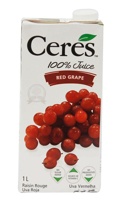 Ceres 100% Juice Red Grape 1L