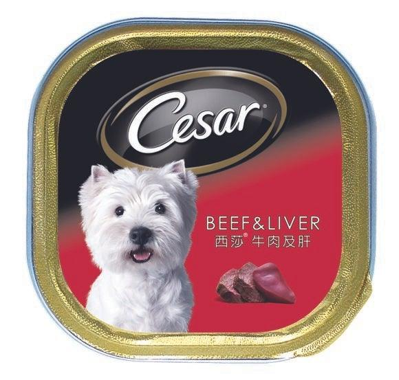 Cesar Tray Dog Food Beef & Liver 100G
