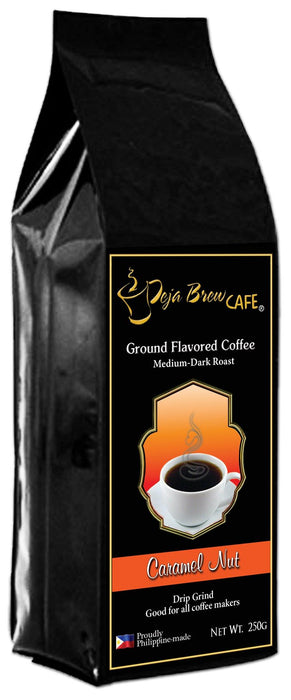 Deja Brew Ground Flavored Coffee Caramel Nut 250G