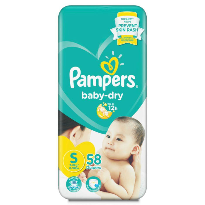 Pampers Baby Dry Diaper Small 58S