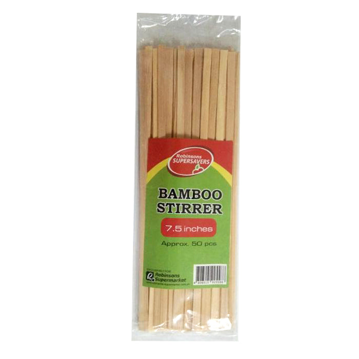 Robinsons Bamboo Stirrer 7.5in Approx. 50pcs
