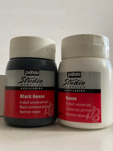 Gesso Imprimante-Base para superficies blanco o negro 500ml