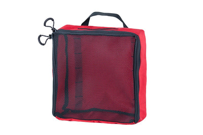 "Mesh Packing Cube - 12 x 12 x 4"" Red - Blue Ridge Overland Gear"