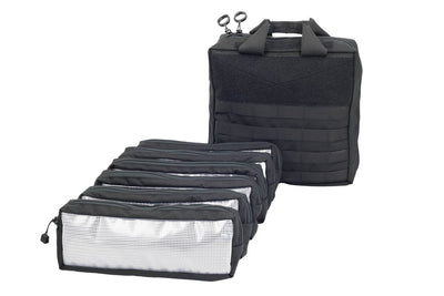 Range Bag Black with 6 velcro pouches - Sharps Mountain - SharpsMountain.com