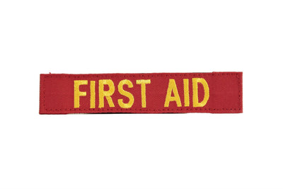 ID Panel | FIRST AID - (Gold on Red)  - Blue Ridge Overland Gear