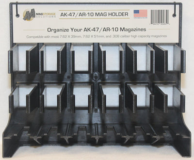Safe rack on white background - AK47/AR-10 Mag Holder - Magazine Safe Rack - Sharps Mountain Outdoor Gear